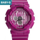 Baby-G 桃紅搖滾塗鴉手錶 柒彩年代【NECB17】casio BA-120SP-4ADR