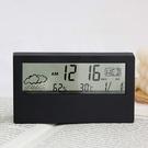 鬧鐘 電子鬧鐘 溫濕度計 溫度計 濕度 貪睡 天氣顯示 時鐘 透視 北歐簡約電子鐘【Q246】生活家精品
