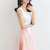 無袖洋裝 2020春夏新款韓版顯瘦女裝修身大碼時尚百搭無袖休閒洋裝 果果生活館
