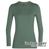 【icebreaker】Tech 女 羊毛圓領長袖上衣 BF260『鼠尾草綠』 柔軟 舒適 羊毛 吸濕 排汗 抑味 控溫 104387