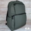 【Misstery】後背包上下口袋休閒後背包-綠03189GN