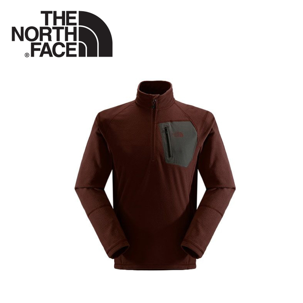 【The North Face 男 刷毛套頭衫《杉木紅/瀝灰》】CGM2/戶外/休閒/保暖