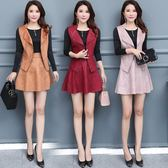 年終大促2018秋冬季新款中年女裝連身裙35-45馬甲配裙子兩件套顯瘦媽媽裝 熊貓本