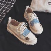 帆布鞋(休閒鞋) 復古風個性帆布鞋女
