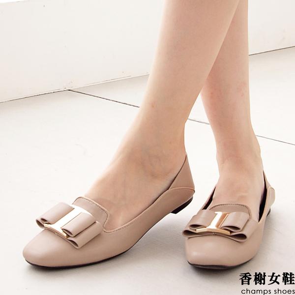 韓系雅緻扣飾軟包鞋
