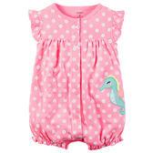 Carter's平行輸入童裝 女寶寶 蝴蝶袖前扣式兔裝 粉海馬【CA118G948】