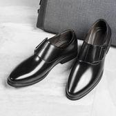 男皮鞋 正裝皮鞋 夏季皮鞋男鞋青年商務英倫黑色休閒鞋圓頭男商務男鞋子《印象精品》q1650