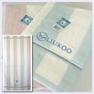 【衣襪酷】煙斗 LIUKOO大彩條印花浴巾(70x142cm) 居家必備良品《毛巾/澡巾/海灘巾》
