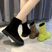 彈力靴女2020新款韓版學生百搭平底短靴春秋單靴襪靴機車馬丁靴潮 現貨快出