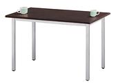 761-3 4×2.5尺道奇餐桌 (木心美耐板面/烤銀 ) (鐵刀木色 ) W120 ×D75 ×H75公分