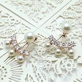 耳環 玫瑰金 925純銀鑲鑽-唯美氣質生日情人節禮物女飾品2色73gs196【時尚巴黎】