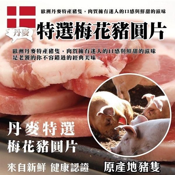 【WANG-全省免運費】買10送10【丹麥特選】梅花豬圓片共20包(100g±10%/包)