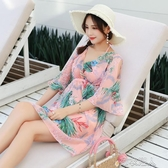 泳衣女遮肚顯瘦性感韓國ins溫泉罩衫比基尼三件套仙女范保守游泳 布衣潮人 贴身衣物 不退不换