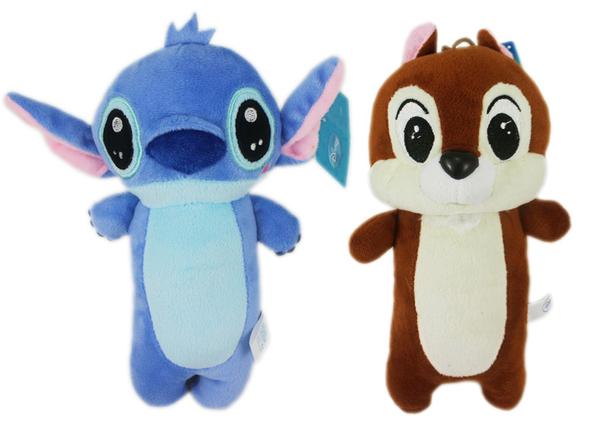 【卡漫城】 23cm 絨毛娃娃 2款選1 ㊣版 史迪奇 造型 布偶 玩偶 Stitch 星際寶貝 奇奇 Chip 花栗鼠