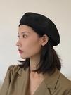 貝雷帽女薄款黑色ins八角帽子網紅秋冬韓版日系英倫復古畫家帽潮 伊衫風尚