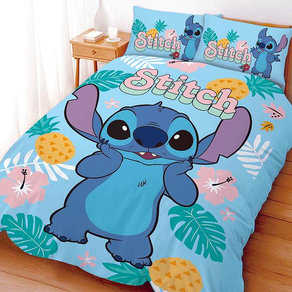 床包被套組 / 雙人加大【迪士尼史迪奇-阿囉哈】含兩件枕套 高密度磨毛 戀家小舖ABF312