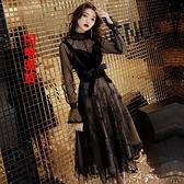 晚禮服裙女新款黑色派對洋裝小禮服晚宴會聚會高貴洋裝顯瘦 母親節禮物