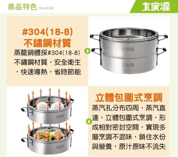 【艾來家電】 【分期0利率+免運】大家源 304不鏽鋼原味蒸籠 TCY-3200