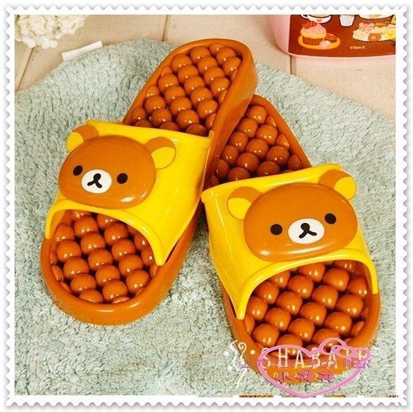 ♥ 小花花日本精品♥ Hello Kitty 拉拉熊懶熊輕鬆熊 防水按摩腳底室內拖/浴室拖鞋34051108