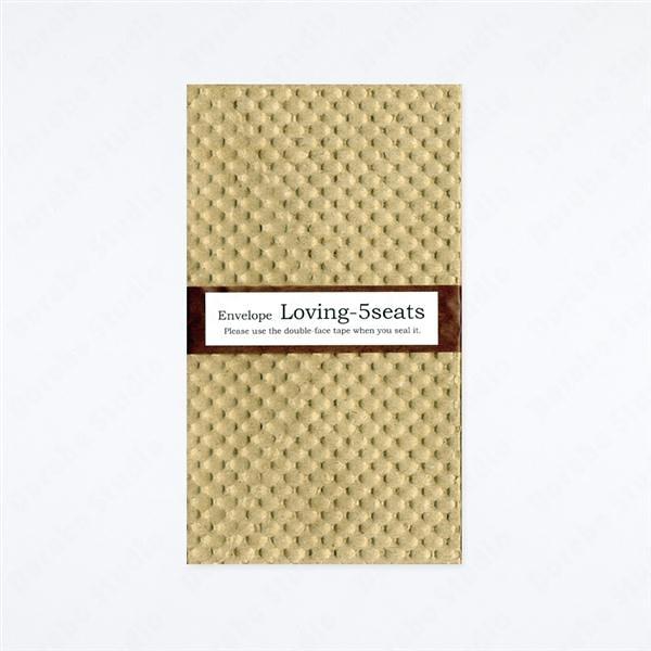 ENVELOPE/Loving 5sheets 立體紋樣信封【Yamamoto Paper】
