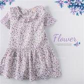 柔夏紫彩花漾棉麻洋裝(250384)★水娃娃時尚童裝★