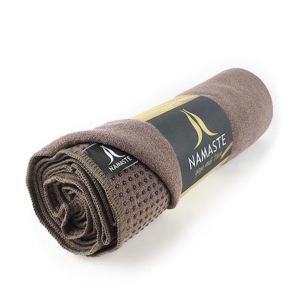 Nanaste 瑜珈鋪巾 矽膠止滑舖巾(附束口收納袋) - 咖啡Brown A515-600-F