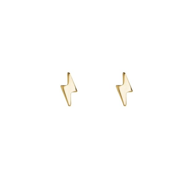 CINCO  小巧閃電925純銀鍍24K金耳釘 SORA EARRINGS