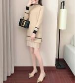 長版上衣 秋冬新款毛衣女慵懶風套頭打底針織衫