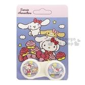 〔小禮堂〕Sanrio 大集合 隨身置物盒《藍.肉桂捲.變裝》空盒.藥盒 4712977-46464