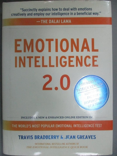 【書寶二手書T8/心理_GBO】Emotional Intelligence 2.0_Bradberry