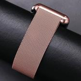 Apple watch米蘭尼斯不銹鋼錶帶iwatch 1/2/3/4代通用42mm38蘋果手錶錶帶潮男女生40mm44 小宅女