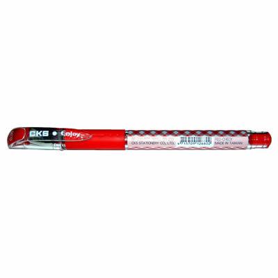 CKS 新雪克 BP-238彩格中性筆 紅0.38