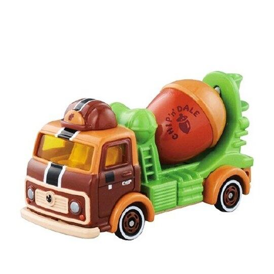 小禮堂 迪士尼 奇奇蒂蒂 TOMICA多美小汽車 松果水泥車 玩具車 模型 兒童玩具 (DM-16 棕綠) 4904810-87282