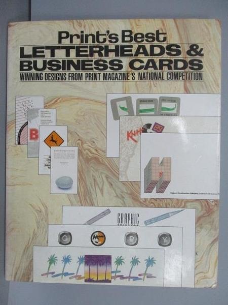 【書寶二手書T6/設計_QMH】Print s Best Letterheads & Business Cards