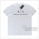 A│X Armani Exchange經典字母LOGO造型短袖T恤(S/M/白)