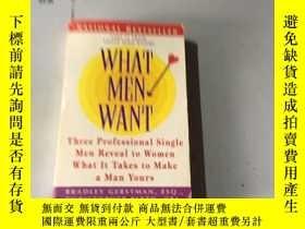 二手書博民逛書店英文原版:What罕見Men Want Gerstman, Br