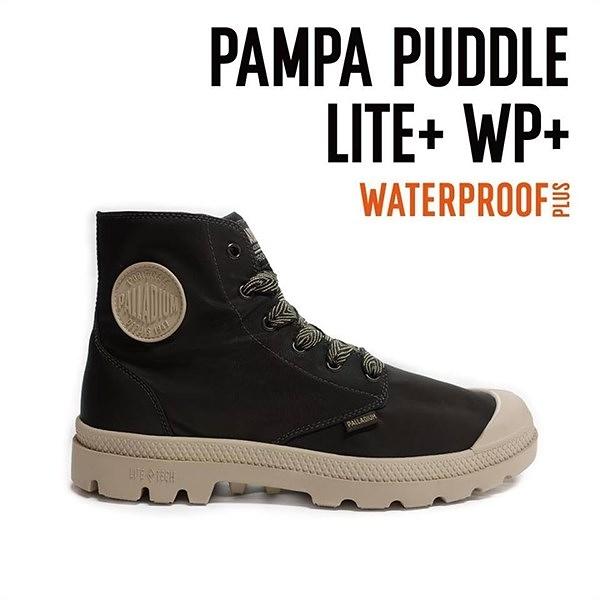【南紡購物中心】【PALLADIUM】PAMPA PUDDLE LITE+WP 撞色系列-輕量雨傘布防水靴 / 棕色 男女鞋