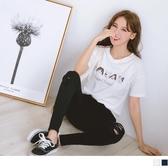 《AB10748-》台灣製造.高含棉手繪狗狗印花短袖T恤/上衣 OB嚴選