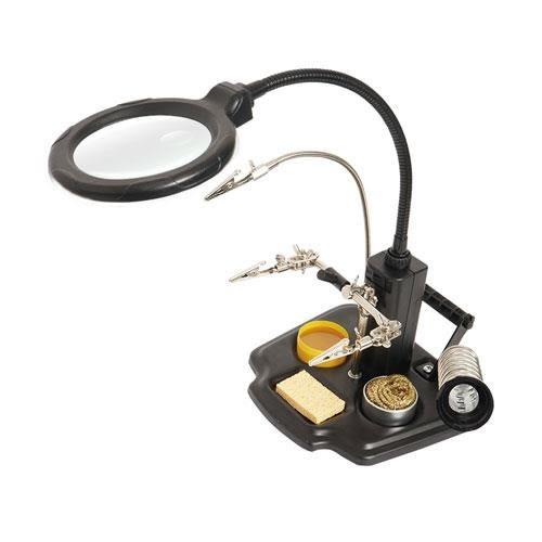 Pro'sKit寶工 LED燈 焊接放大鏡輔助夾座 SN-396【88折優惠】