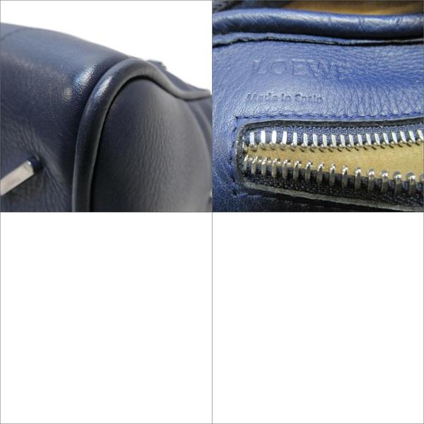 LOEWE 羅威 藍色牛皮手提肩背包 Amazona 75【 二手品牌BRAND OFF】