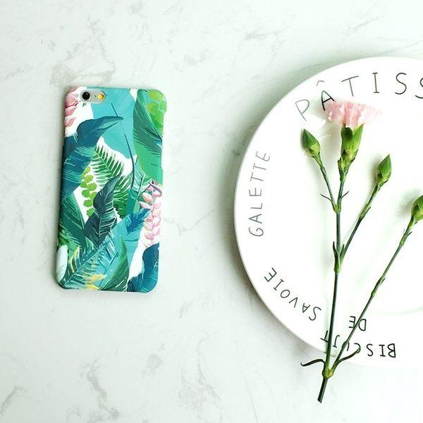 iPhoneX手機殼 韓國小清新文藝復古夏日葉 磨砂硬殼 蘋果iPhone8X/iPhone7/i6/5s