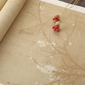 雅坤四尺對開毛筆書法作品紙專用半熟仿古蠟染箋國展創作宣紙批發