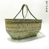 手工竹籃子竹編織手提購物藍tz5270【每日三C】