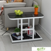 沙發邊櫃 現代簡約小茶幾邊角桌客廳迷你角櫃沙發邊櫃玻璃邊幾角幾臥室邊桌  快速出貨