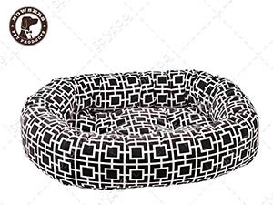 【SofyDOG】BOWSERS甜甜圈極適寵物床-極簡方格(灰)-S