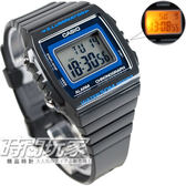 W-215H-8A 卡西歐 CASIO 電子錶 方型 藍灰黑配色 灰黑色橡膠 43mm 男錶 時間玩家 W-215H-8AVDF