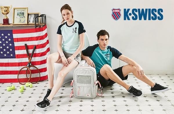 K-SWISS Heather Basic Polo涼感排汗Polo衫-男-灰