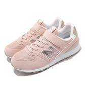 New Balance 慢跑鞋 YV996 W 粉紅 寬楦 童鞋 中童鞋 麂皮 魔鬼氈 【PUMP306】 YV996PPKW