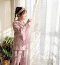 睡衣 日系全棉紗布男士睡衣女長袖雙層紗純...