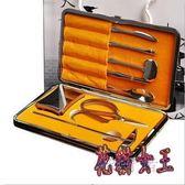 吃蟹工具 蟹八件不銹鋼蟹鉗夾大閘蟹配套螃蟹工具 BF8744【花貓女王】